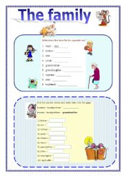 family vocabulary in english exercises Success