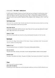 English Worksheet: Native Americans Pair work Reading Comprehension