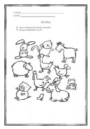English Worksheets: Animals of the farm