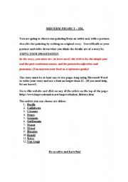 English Worksheets: Web Project - Artists
