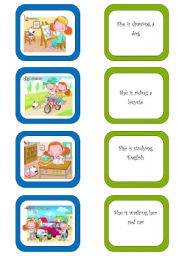 English Worksheets: Memory card game (1/5)