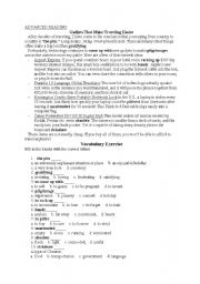 English Worksheets: Gadjets with answer key