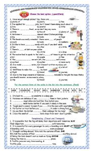 English Worksheet: Grammar and Vocabulary Practice for Upper Intermediate Students!