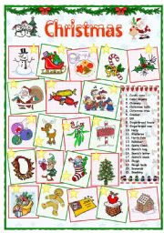 English Worksheet: Christmas vocabulary (1 of 2)