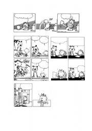 printable blank comic strip template for kids - calvin hobbes garfield blank comic strips 2 5 esl