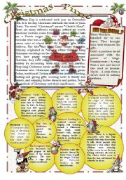 English Worksheets: Christmas Reading Comprehension