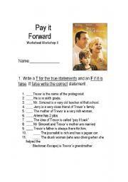 Pay it forward thesis statement
