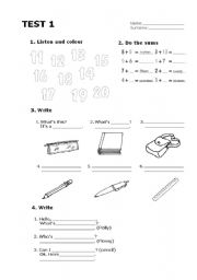 English Worksheet: happy street 1 - units 1 & 2