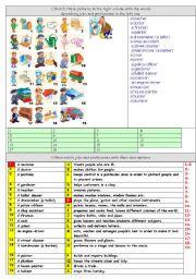 English Worksheet: jobs & professions