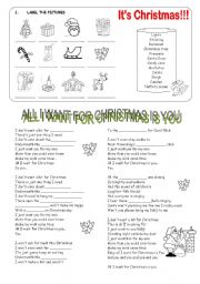 English Worksheets: All I want for Christmas