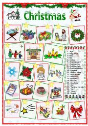 English Worksheet:  Christmas vocabulary (2 of 2)
