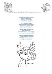 graphic regarding Words to Rudolph the Red Nosed Reindeer Printable named Rudolph the purple-nosed reindeer worksheets