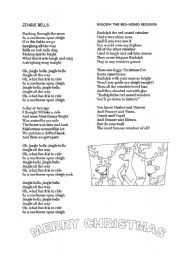 English Worksheet: JINGLE BELLS& RUDOLPH