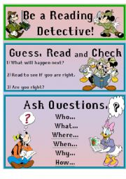 English Worksheets: ~Reading Detective~ Comprehension Strategies 1/8