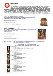 English Worksheet: the Tudors