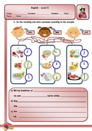 English Worksheet: FOOD AND DRINKS - PART II