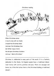 English Worksheets: Christmas reading