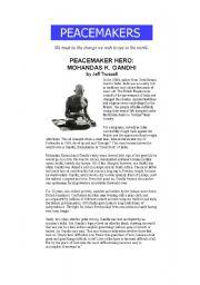 English Worksheets: Ghandi