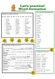 English Worksheets: Let�s practice! 1