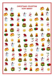 English Worksheet: CHRISTMAS COUNTING