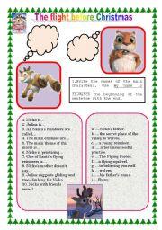 English Worksheets: Movie worksheet �The flight before Christmas�