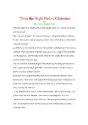 Twas the Night before Christmas Rewrite