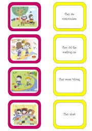 English Worksheets: Memory card game (1/6)
