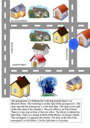 English worksheet: the map