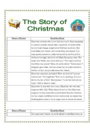 English Worksheet: The Story of Christmas