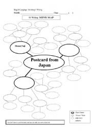 english worksheets mind map postcard from japan. Black Bedroom Furniture Sets. Home Design Ideas