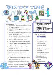 English Worksheet: WINTER TIME