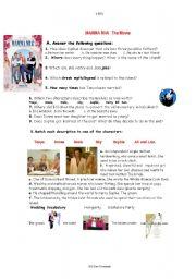 English Worksheet: Mamma Mia the movie