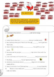 English Worksheets: Relative Pronouns who & which
