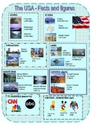 English Worksheet: The USA - Facts and figures