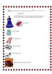 English worksheet: English Worksheet about Clothes