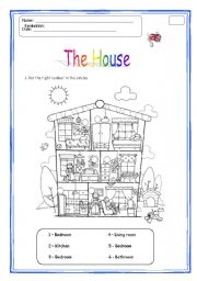 English worksheet: The rooms of the house | S2 | Pinterest ...