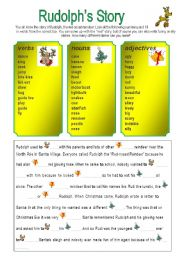 English Worksheet: Rudolph´s story