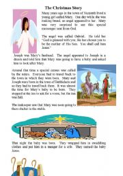 English Worksheet: The Christmas Story