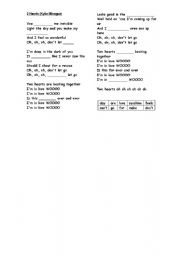 English worksheet: Two hearts-Kylie Minogue (Valentine´s Day)
