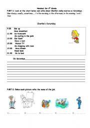 English Worksheets: 4the Grade Writing & Vocabulary