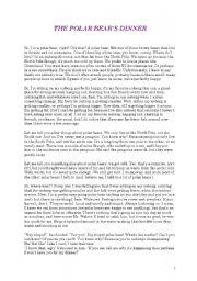 English Worksheet: Polar Bear