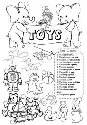 English Worksheet: Toys
