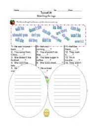 English Worksheets: Question tag