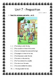 English Worksheets: Where are teh animals?