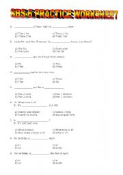 English Worksheet: YEAR 6 SBS WORKSHEET 2