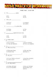 English Worksheet: YEAR 6 SBS WORKSHEET 3
