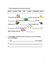 English worksheet: teach how to write sentence