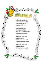 This is a picture of Gutsy Jingle Bells Lyrics Printable
