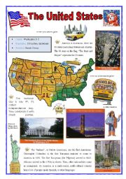 English Worksheet: United States (2sheets)
