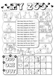 English Worksheets: My Zoo